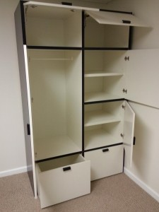Ikea odda wardrobe assembly